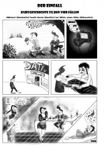 Comic zu den 4 Fällen