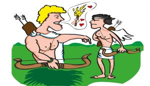 Apollon beleidigt Eros