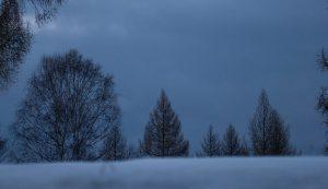 Winterdämmerung Gewölk